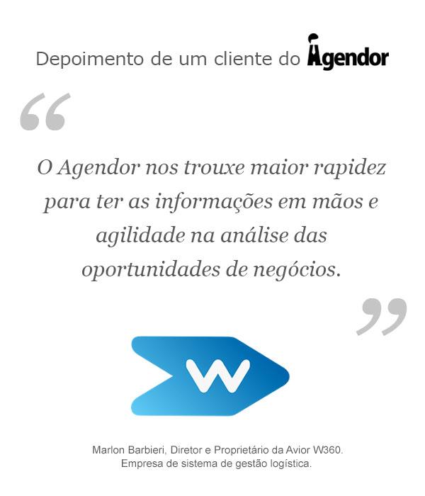 Case de sucesso com o Agendor: Avior W360