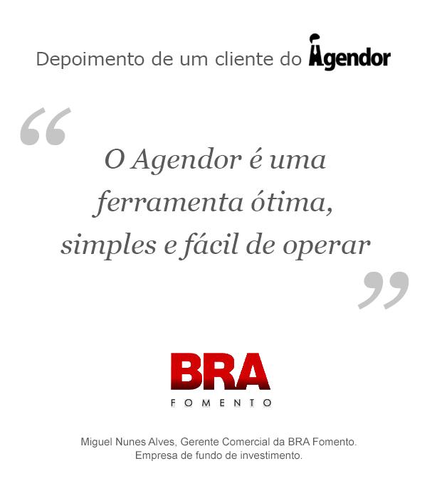 Case de sucesso do Agendor: BRA Fomento Mercantil
